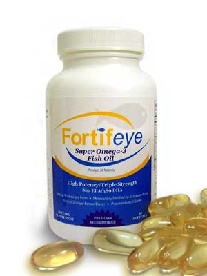 Fortifeye Super Omega 2-4 per day for dry eyes