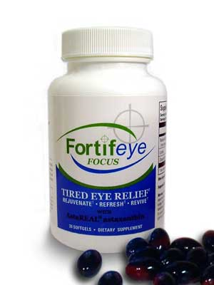 Fortifeye Focus works together with Fortifeye Super Omega at helping to reduce dry and tired eye symptoms.